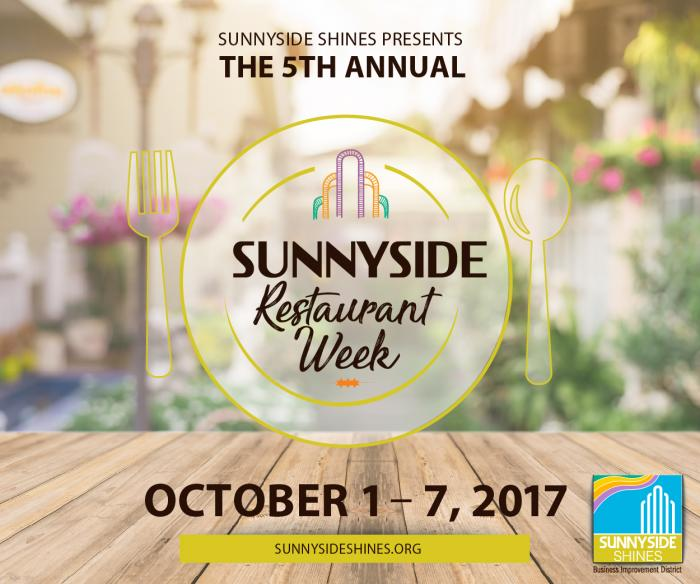 Sunnyside's 5th Annual Restaurant Week Launches October 1
